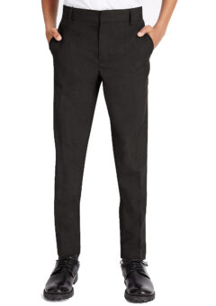 Black adjustable waist slim leg trouser