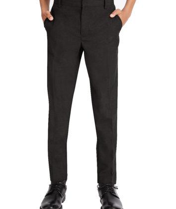 Black adjustable waist slim leg trouser