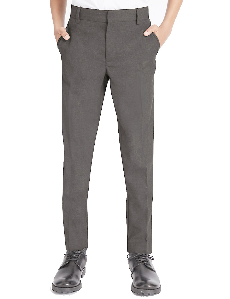 Grey Boys adjustable waist trouser grey
