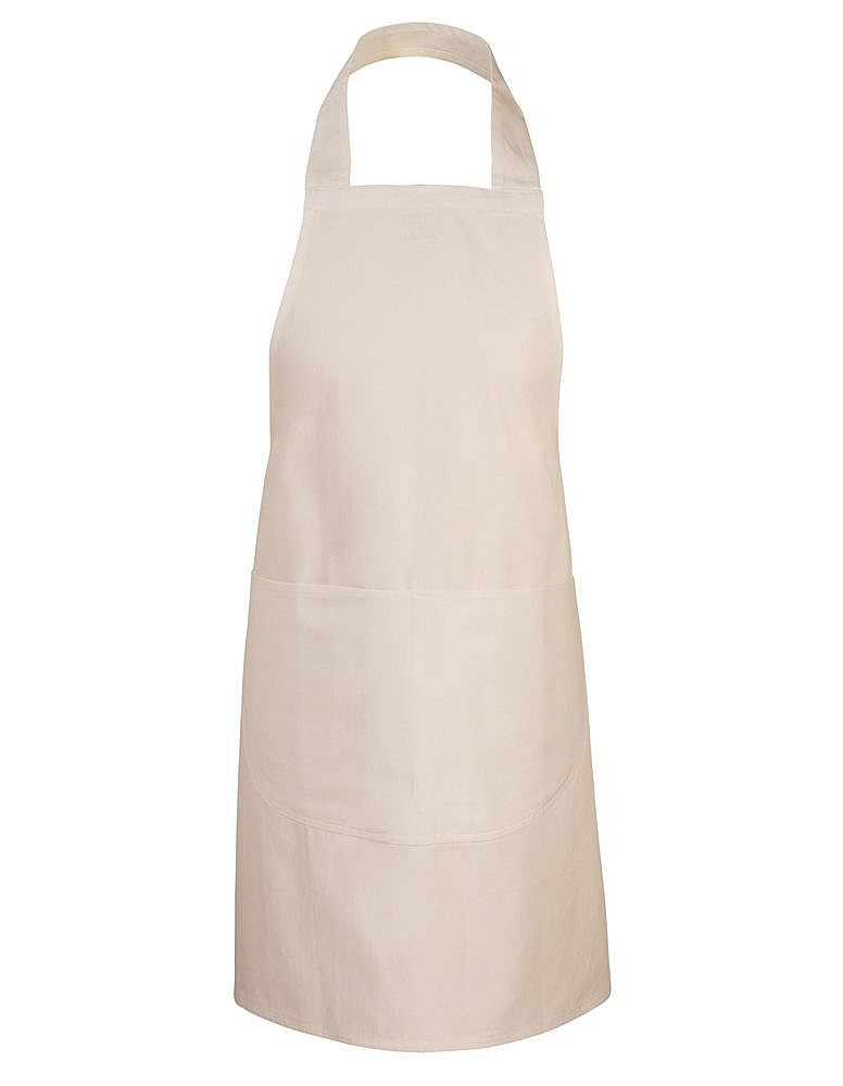 School apron unbleached