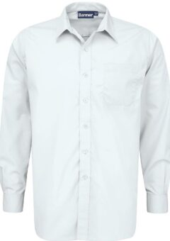 white classic shirt long sleeve