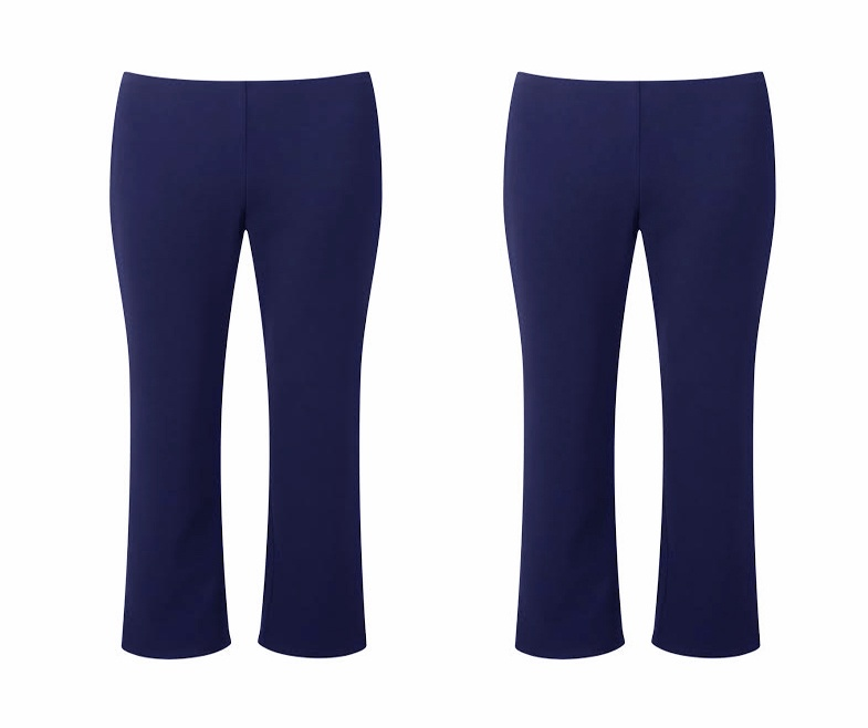 Girls navy Rib trouser