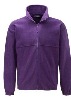 Purple fleece jacket