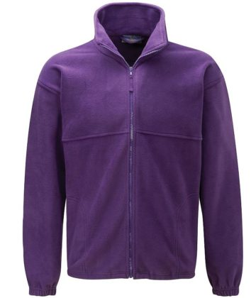 Purple fleece jacket