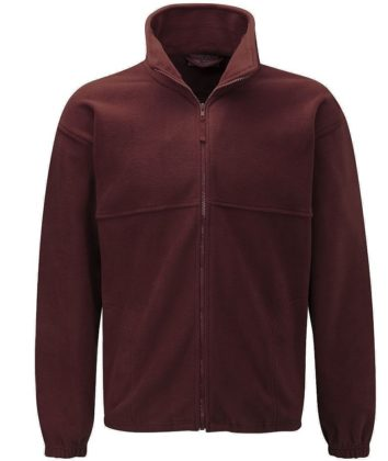 Burgundy Polar Fleece jacket