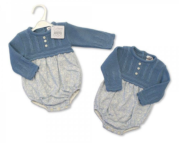 89ced8abf Spanish Knitwear Baby's Blue Romper Outfit – 4 Direct Uniforms