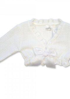 Bolero cardigan white