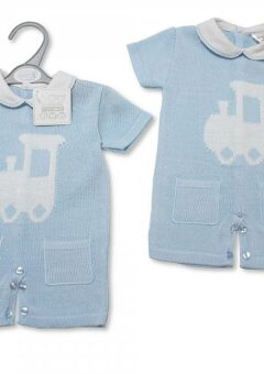 Baby boys knitted romper