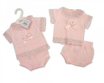Pink top and pant set
